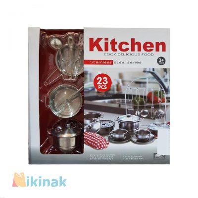 اسباب بازی ظروف آشپزخانه استیل ۲۳ تکه