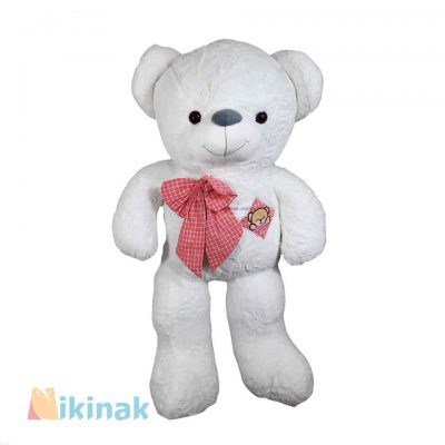 خرس بزرگ سفید پاپیون دار