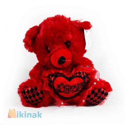 عروسک خرس قرمز love