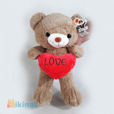 عروسک خرس love قلب بدست