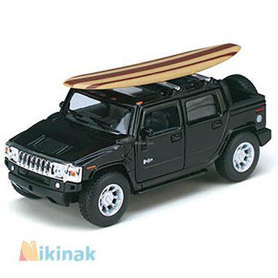 ماکت ماشین فلزی 2005 Hummer H2 SUT w wooden surfboard